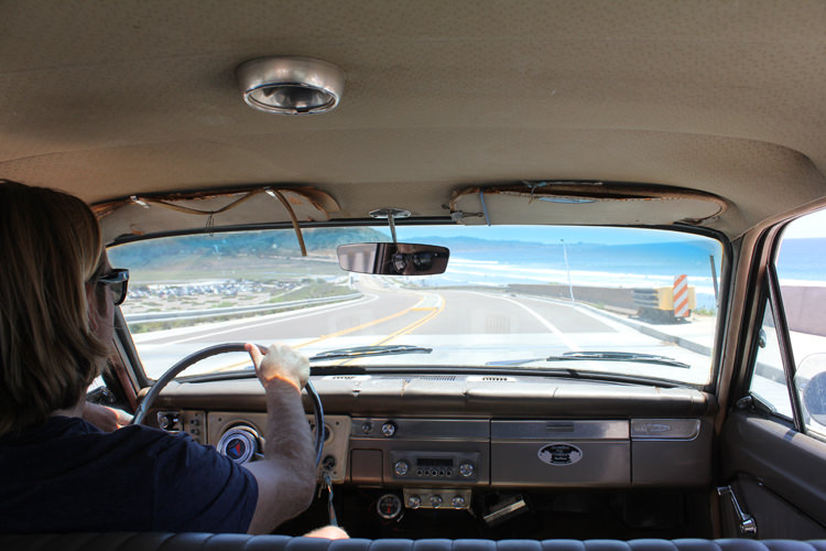 Back seat of Devon Howard 1963 Plymouth Valiant